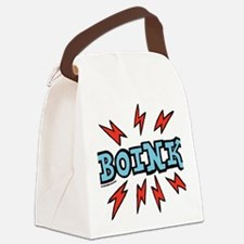 boink_blue Canvas Lunch Bag