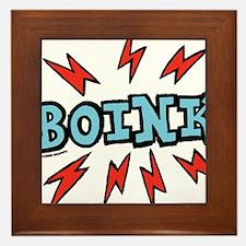 boink_blue Framed Tile