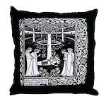 Four Queens Find Lancelot Throw Pillow