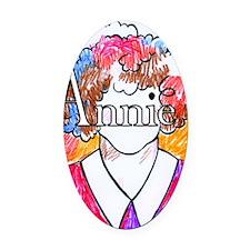 Annie(10X10) Oval Car Magnet