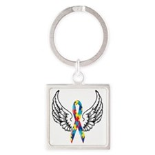wings Square Keychain