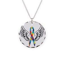 wings Necklace Circle Charm
