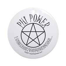 Phi Power Ornament (Round)