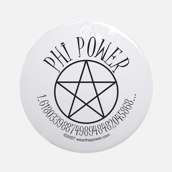 Phi Power Ornament (Round)