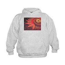 """""""Red 8"""" Fractal Art Hoodie"""