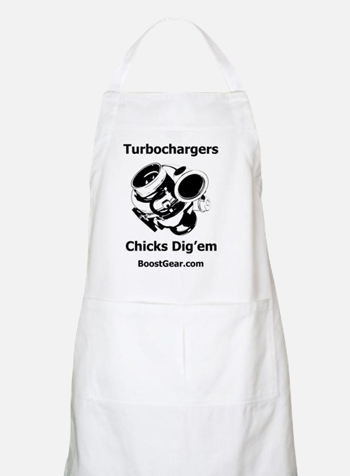 Turbochargers - Chicks Digem - White T-Shir Apron