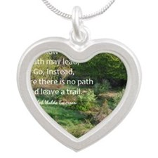EmersonmagnetPath Silver Heart Necklace