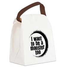 MOnster too black Canvas Lunch Bag