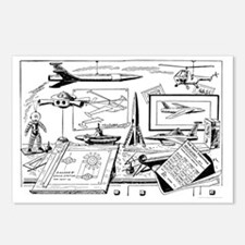Drawing Board Inventions Postcards (Package of 8)