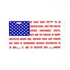 Declaration Flag Aluminum License Plate