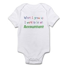 When I Grow Up Accountant Infant Bodysuit