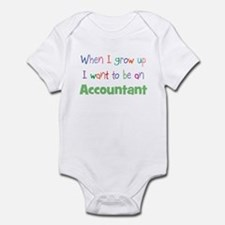 When I Grow Up Accountant Onesie