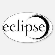 2-eclipse shirt back black Sticker (Oval)