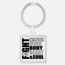 Fight Against Diabetes Square Keychain