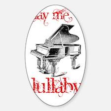 54917_piano_lg Sticker (Oval)