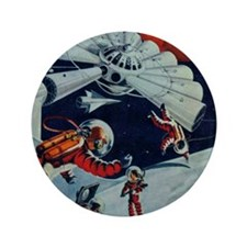 """Outpost in Space Tom Swift 3.5"""" Button"""