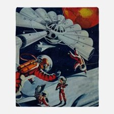 Outpost in Space Tom Swift Throw Blanket