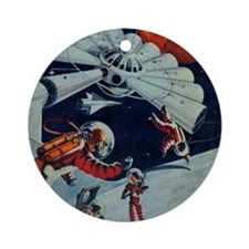 Outpost in Space Tom Swift Round Ornament
