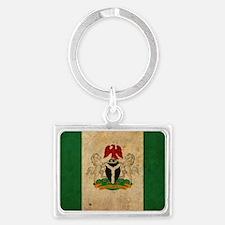 vintageNigeria3 Landscape Keychain