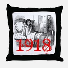 1918kid-in-bed_lg[1] copy Throw Pillow
