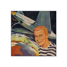 "Tom Swift Flying Lab Square Sticker 3"" x 3"""
