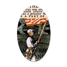 Americna Recruiting WWI _navy_ww1_ Oval Car Magnet