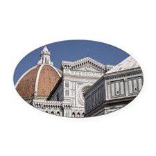 Duomo, Florence Oval Car Magnet