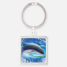 Dolphin-La Lokis Square Keychain