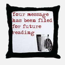 filedWh Throw Pillow