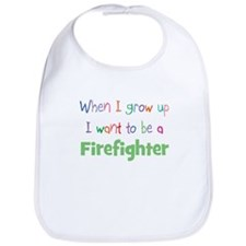 When I Grow Up Firefighter Bib