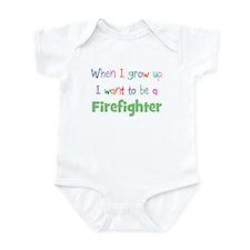 When I Grow Up Firefighter Infant Bodysuit