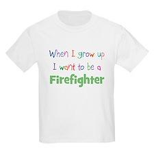 When I Grow Up Firefighter Kids T-Shirt