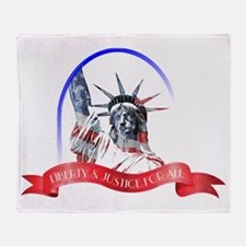 Liberty  Justice For All Throw Blanket