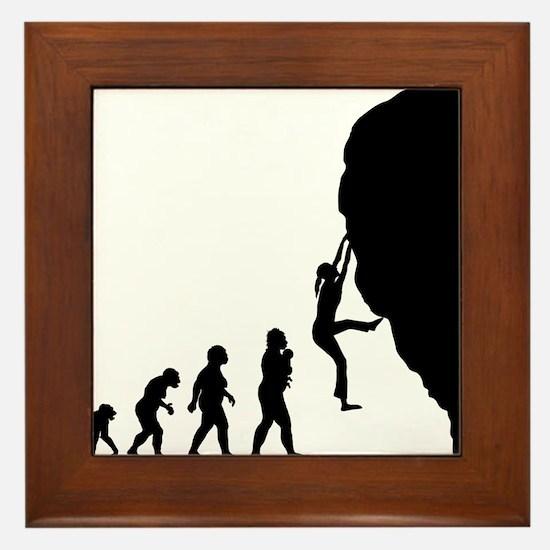Rock Climbing Framed Tile