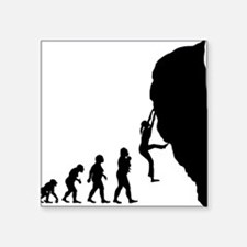 "Rock Climbing Square Sticker 3"" x 3"""