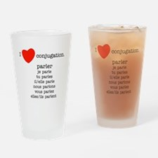 french_black-all Drinking Glass