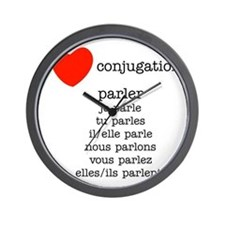 french_black-all Wall Clock
