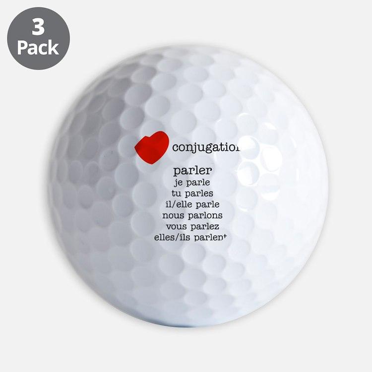 french_black-all Golf Ball