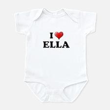 I LOVE ELLA T-SHIRT ELLA SHIR Infant Bodysuit