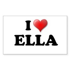 I LOVE ELLA T-SHIRT ELLA SHIR Sticker (Rectangular