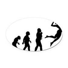 Volleyball Oval Car Magnet