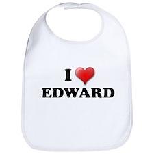 I LOVE EDWARD T-SHIRT EDWARD  Bib