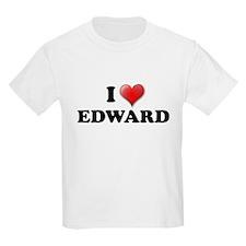 I LOVE EDWARD T-SHIRT EDWARD  Kids T-Shirt