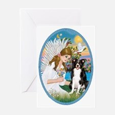Angel Love - Border Collie Greeting Card