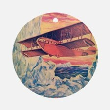 Flying Boat Round Ornament