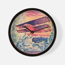 Flying Boat Wall Clock