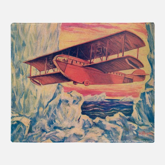Flying Boat Throw Blanket