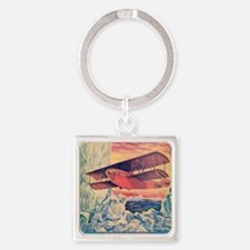 Flying Boat Square Keychain