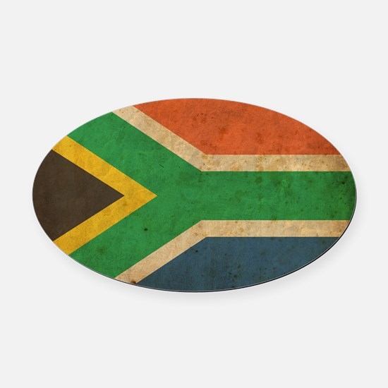 VintageSouthAfrica2 Oval Car Magnet