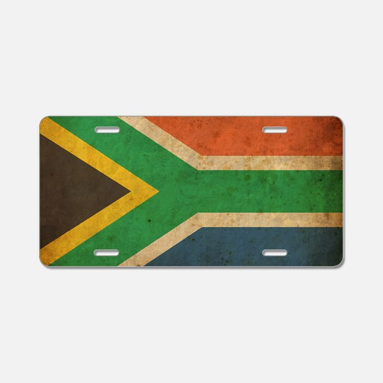 VintageSouthAfrica2 Aluminum License Plate